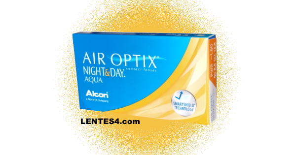 Air Optix Night Day Aqua - Lentes de contacto LENTES4.com - Side Angle FRC